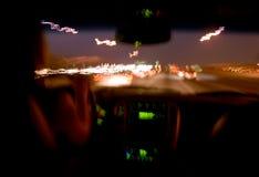Programa piloto de la noche. Imagen de archivo