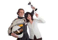 Programa piloto en el podium Fotos de archivo