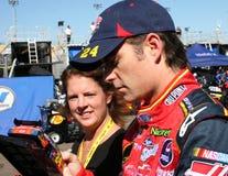 Programa piloto Jeff Gordon de la taza de NASCAR fotografía de archivo