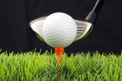 Programa piloto y pelota de golf Foto de archivo libre de regalías