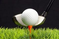 Programa piloto y pelota de golf Imagen de archivo libre de regalías
