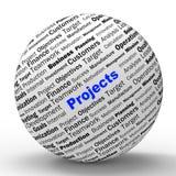 Programación de los medios de la definición de la esfera de los proyectos
