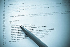 Programación de ordenador Imagen de archivo