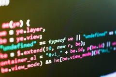 Programación del sitio web de Internet Concepto del ciberespacio de la codificación Programador Developer Screen foto de archivo libre de regalías