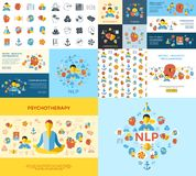 Programación lingüística neura del vector de Digitaces libre illustration