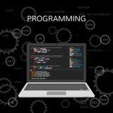 Programación y codificación Concepto del desarrollo web Vector libre illustration
