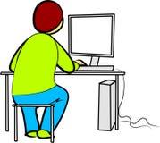 Programador Ilustração Royalty Free