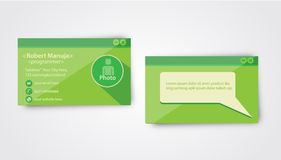 Programador Business Card Template Fotografia de Stock Royalty Free