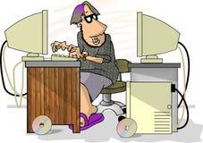 Programador de computador ilustração royalty free