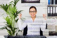 Programador de computador novo Fotografia de Stock
