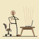 Programador de software inteligente satisfeito com o wo Foto de Stock