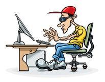 programador e computador Fotografia de Stock
