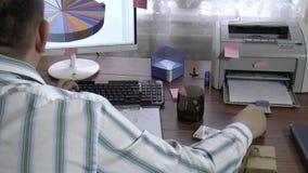 Programador en el trabajo almacen de video