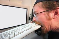 Programador enojado Imagen de archivo libre de regalías