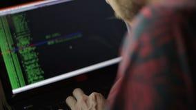 Programador independiente Or Hacker Coding almacen de metraje de vídeo