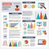 Programador Infographics Set Imagens de Stock Royalty Free