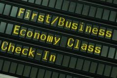 Programação de vôo Fotografia de Stock Royalty Free