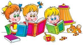 Programas de lectura stock de ilustración
