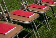 Programas del comienzo sobre sillas Imagenes de archivo