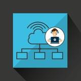 Programer character development cloud Stock Photo