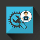 Programer character tools development Stock Photos