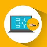 Programer software laptop technology Stock Photography