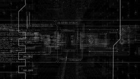 ProgramHUD data avskärmar animering Alfabetisk kanal för PNG stock video