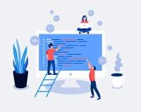 Programiści koduje i korygują błędy w projekcie Obraz Stock