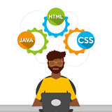 Programing language design. Illustration eps10 graphic Royalty Free Stock Image
