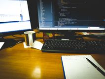Programingscode royalty-vrije stock foto's