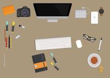 Programisty ` s desktop ilustracja wektor