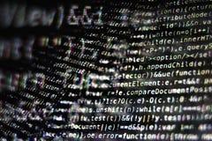 Programkod på skärmen Royaltyfri Bild