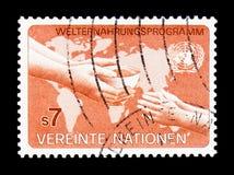 Programm de nourriture du monde, serie, vers 1983 Photo libre de droits