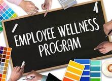 Programm des Angestellten Wellness und Leitungsmitarbeiter-gesundheit, employe Stockbilder
