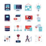 Programm Development Flat Icon Set vector illustration