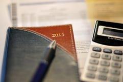 Programma 2011 del nuovo anno Immagini Stock Libere da Diritti