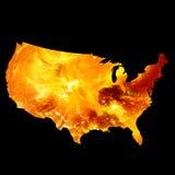 Programma americano su fuoco illustrazione di stock