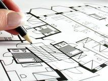 Programma architettonico immagini stock
