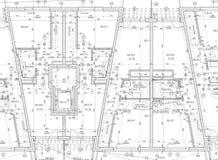 Programma architettonico di cad Fotografia Stock Libera da Diritti