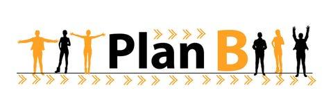 Programma B concetto di piano d'emergenza La gente Immagini Stock Libere da Diritti