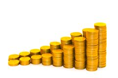 Programma dat uit muntstukken bestaat Stock Foto