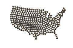 Programma degli S.U.A. fatto delle monete Immagini Stock