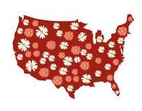 Programma dei fiori degli S.U.A. Immagini Stock Libere da Diritti