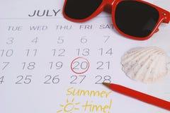 Programma del calendario di estate Fotografie Stock