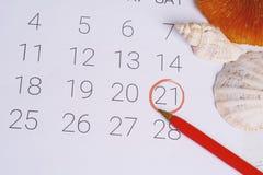 Programma del calendario di estate Immagine Stock Libera da Diritti