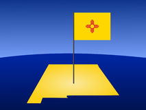 Programma del New Mexico con la bandierina illustrazione vettoriale