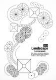 Programma del paesaggio e del giardino Fotografia Stock Libera da Diritti