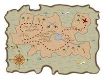 Programma del tesoro del pirata royalty illustrazione gratis