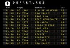 Programma dell'aeroporto - Brasile Fotografia Stock Libera da Diritti