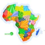 Programma dell'Africa mappa di concetto con la mappa variopinta dell'Africa dei paesi, progettazione astratta infographic, mappa  Fotografia Stock Libera da Diritti